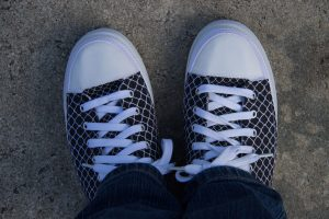 A photograph of my Zipz shoes from Zazzle at Blue Springs State Park