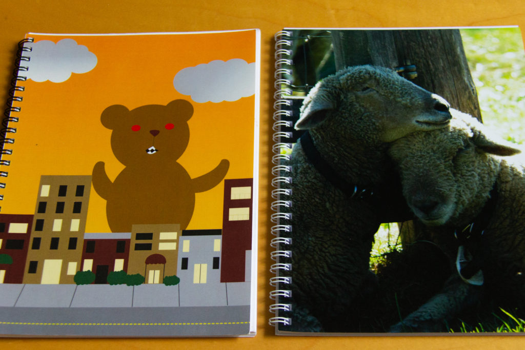 The Monster Bear Notebook and Sheep Notebook from ValeriesGallery at Zazzle